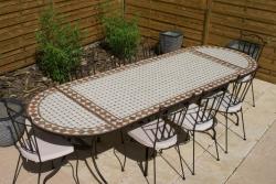 Table mosaïque ovale - Table Jardin Mosaïque