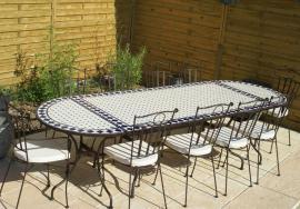 Table mosa que tables de jardin discount table jardin mosa que - Table de jardin en fer forge mosaique montreuil ...
