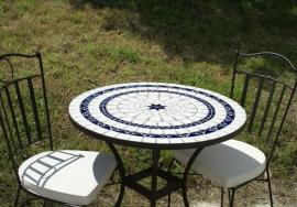 Table mosaïque ronde - Table Jardin Mosaïque