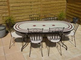 Table Mosaïque - tables de jardin discount - Table Jardin Mosaïque