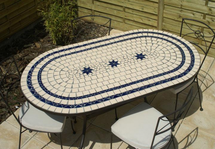 Table Mosaique Fer Forg. Table Mosaique Jardin Table Fer Forg With ...