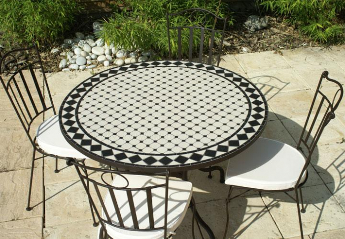 Table Jardin Mosaique Ronde Inspiration Table Ronde Fer Inspirant ...