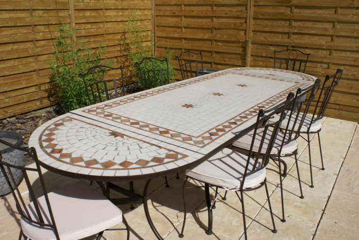 Table Jardin Mosaique Ovale 260cm Table Rectangle Plus