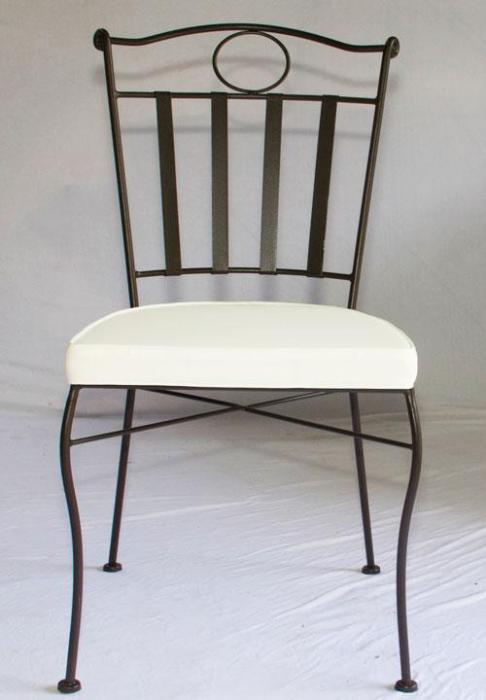 Chaise Confort En Fer Forge Plein Table Jardin Mosaique