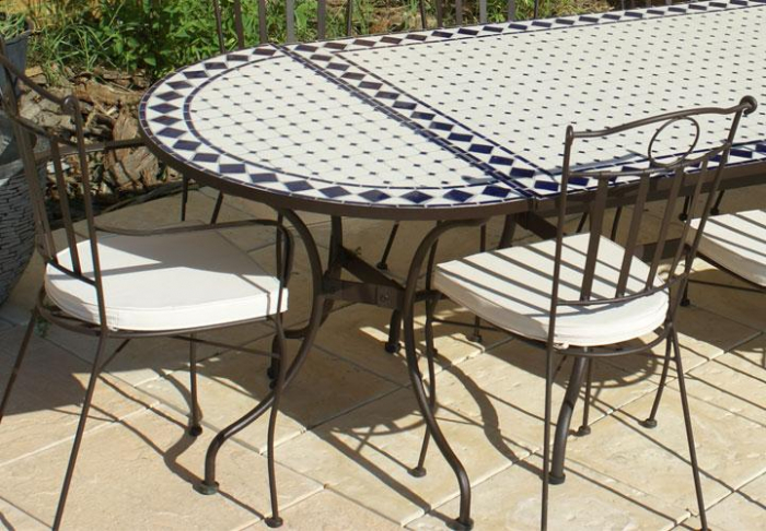 Table Jardin Mosaique Carr E 100cm X 100 Cm C Ramique