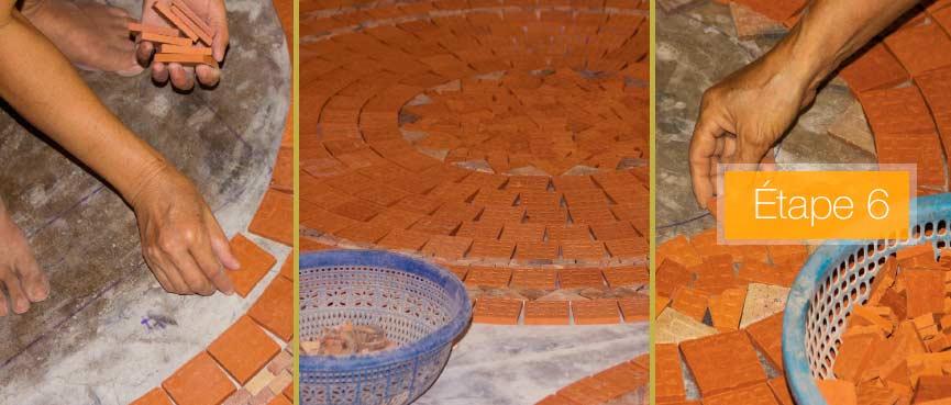 Tables mosa que jardin de fabrication artisanale table - Table de jardin mosaique rectangulaire ...